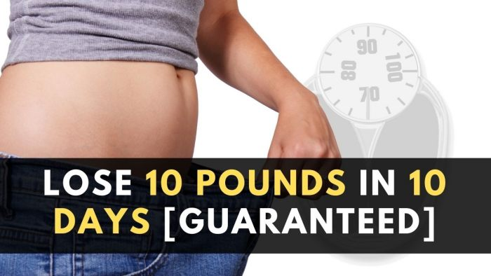 How to Lose 10 Pounds in 10 DAYS [Weight Loss Smoothies]