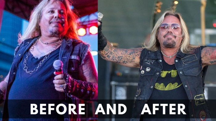 Vince Neil Before and After Weight Lose